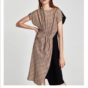 Zara Patchwork Midi dress